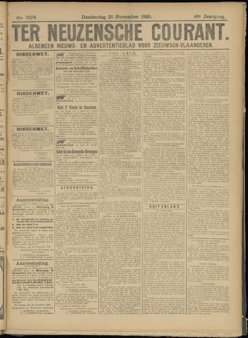 Ter Neuzensche Courant. Algemeen Nieuws- en Advertentieblad voor Zeeuwsch-Vlaanderen / Neuzensche Courant ... (idem) / (Algemeen) nieuws en advertentieblad voor Zeeuwsch-Vlaanderen 1920-11-25