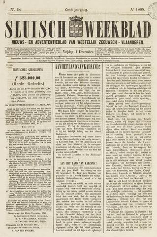Sluisch Weekblad. Nieuws- en advertentieblad voor Westelijk Zeeuwsch-Vlaanderen 1865-12-01