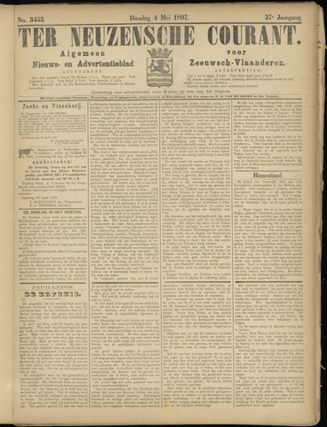 Ter Neuzensche Courant. Algemeen Nieuws- en Advertentieblad voor Zeeuwsch-Vlaanderen / Neuzensche Courant ... (idem) / (Algemeen) nieuws en advertentieblad voor Zeeuwsch-Vlaanderen 1897-05-04