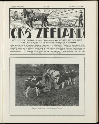 Ons Zeeland / Zeeuwsche editie 1928-08-18
