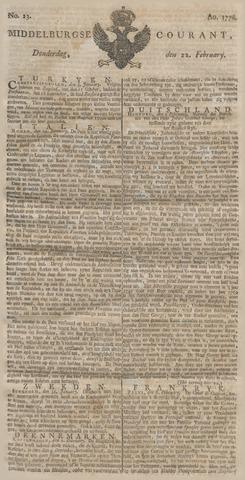 Middelburgsche Courant 1776-02-22