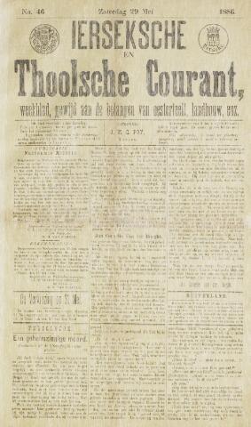 Ierseksche en Thoolsche Courant 1886-05-29