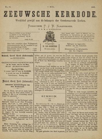 Zeeuwsche kerkbode, weekblad gewijd aan de belangen der gereformeerde kerken/ Zeeuwsch kerkblad 1887-05-07