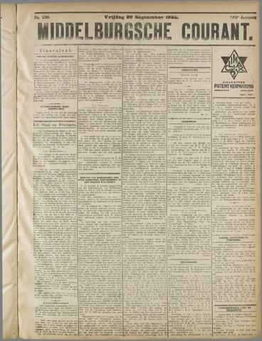 Middelburgsche Courant 1922-09-29