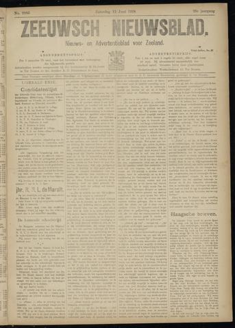 Ter Neuzensch Volksblad. Vrijzinnig nieuws- en advertentieblad voor Zeeuwsch- Vlaanderen / Zeeuwsch Nieuwsblad. Nieuws- en advertentieblad voor Zeeland 1918-06-15
