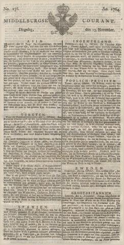 Middelburgsche Courant 1764-11-13