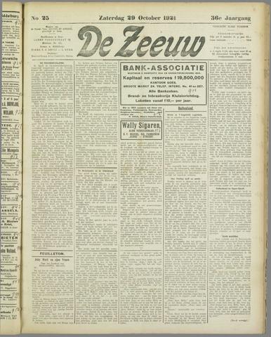 De Zeeuw. Christelijk-historisch nieuwsblad voor Zeeland 1921-10-29