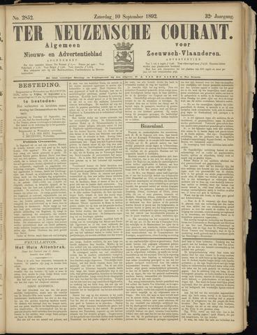 Ter Neuzensche Courant. Algemeen Nieuws- en Advertentieblad voor Zeeuwsch-Vlaanderen / Neuzensche Courant ... (idem) / (Algemeen) nieuws en advertentieblad voor Zeeuwsch-Vlaanderen 1892-09-10
