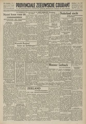 Provinciale Zeeuwse Courant 1947-01-11