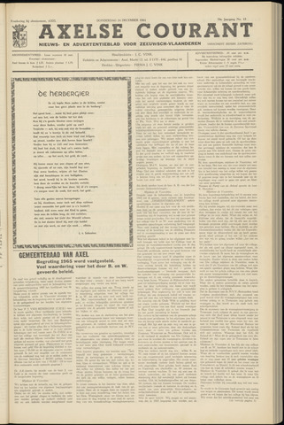 Axelsche Courant 1964-12-24