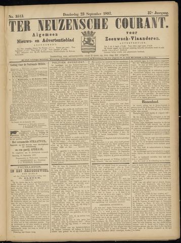 Ter Neuzensche Courant. Algemeen Nieuws- en Advertentieblad voor Zeeuwsch-Vlaanderen / Neuzensche Courant ... (idem) / (Algemeen) nieuws en advertentieblad voor Zeeuwsch-Vlaanderen 1897-09-23