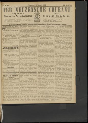 Ter Neuzensche Courant. Algemeen Nieuws- en Advertentieblad voor Zeeuwsch-Vlaanderen / Neuzensche Courant ... (idem) / (Algemeen) nieuws en advertentieblad voor Zeeuwsch-Vlaanderen 1914-03-19