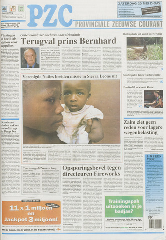 Provinciale Zeeuwse Courant 2000-05-19