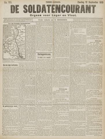 De Soldatencourant. Orgaan voor Leger en Vloot 1915-09-12