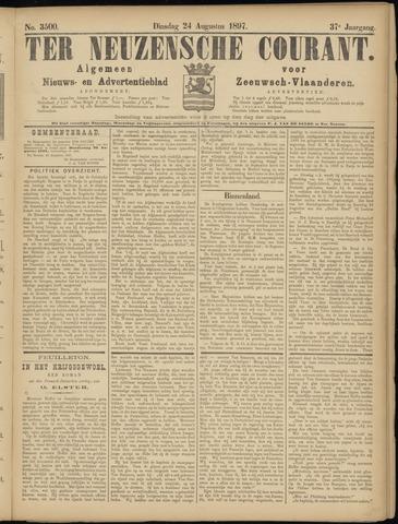 Ter Neuzensche Courant. Algemeen Nieuws- en Advertentieblad voor Zeeuwsch-Vlaanderen / Neuzensche Courant ... (idem) / (Algemeen) nieuws en advertentieblad voor Zeeuwsch-Vlaanderen 1897-08-24