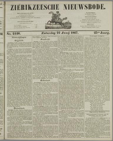 Zierikzeesche Nieuwsbode 1867-06-22