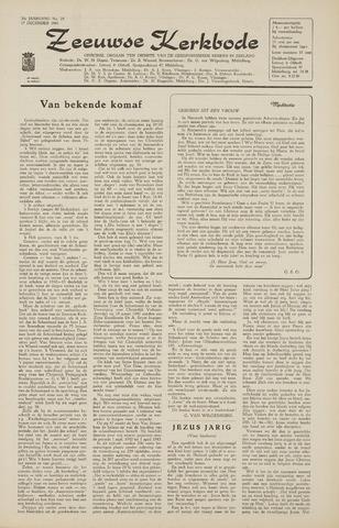 Zeeuwsche kerkbode, weekblad gewijd aan de belangen der gereformeerde kerken/ Zeeuwsch kerkblad 1965-12-17