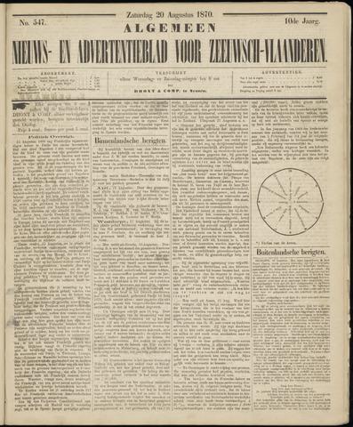 Ter Neuzensche Courant. Algemeen Nieuws- en Advertentieblad voor Zeeuwsch-Vlaanderen / Neuzensche Courant ... (idem) / (Algemeen) nieuws en advertentieblad voor Zeeuwsch-Vlaanderen 1870-08-20