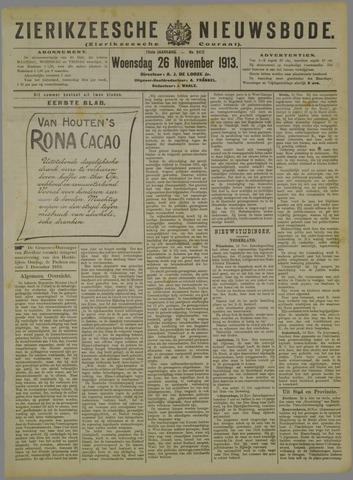 Zierikzeesche Nieuwsbode 1913-11-26