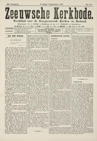 Zeeuwsche kerkbode, weekblad gewijd aan de belangen der gereformeerde kerken/ Zeeuwsch kerkblad 1915-09-03