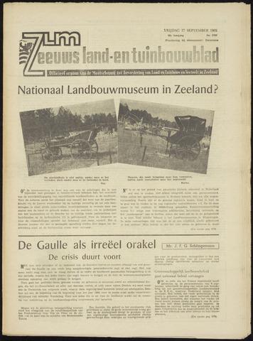 Zeeuwsch landbouwblad ... ZLM land- en tuinbouwblad 1965-09-17