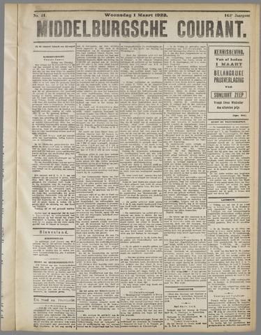 Middelburgsche Courant 1922-03-01