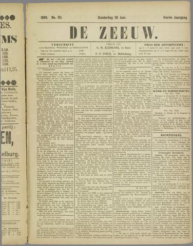 De Zeeuw. Christelijk-historisch nieuwsblad voor Zeeland 1890-06-26