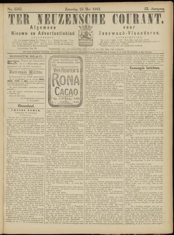 Ter Neuzensche Courant. Algemeen Nieuws- en Advertentieblad voor Zeeuwsch-Vlaanderen / Neuzensche Courant ... (idem) / (Algemeen) nieuws en advertentieblad voor Zeeuwsch-Vlaanderen 1912-05-25