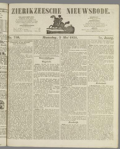Zierikzeesche Nieuwsbode 1851-05-03