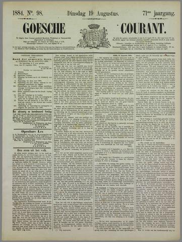 Goessche Courant 1884-08-19
