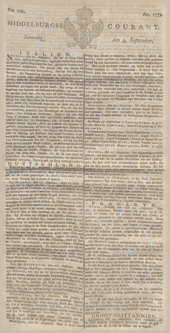 Middelburgsche Courant 1779-09-04