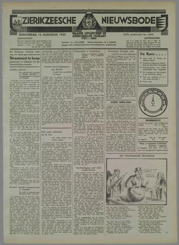 Zierikzeesche Nieuwsbode 1937-08-12