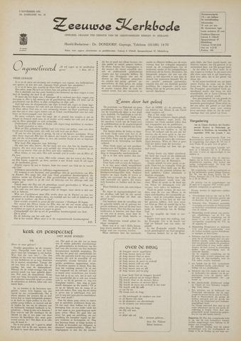 Zeeuwsche kerkbode, weekblad gewijd aan de belangen der gereformeerde kerken/ Zeeuwsch kerkblad 1970-11-05