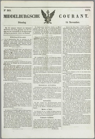 Middelburgsche Courant 1871-11-14