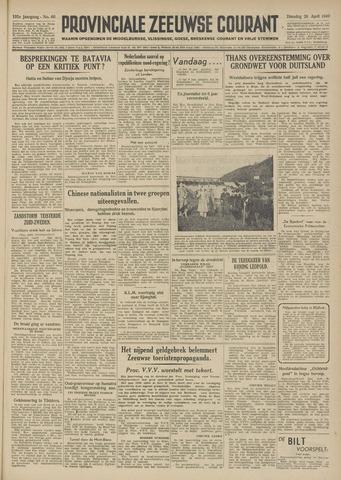 Provinciale Zeeuwse Courant 1949-04-26