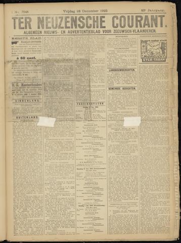 Ter Neuzensche Courant. Algemeen Nieuws- en Advertentieblad voor Zeeuwsch-Vlaanderen / Neuzensche Courant ... (idem) / (Algemeen) nieuws en advertentieblad voor Zeeuwsch-Vlaanderen 1923-12-28