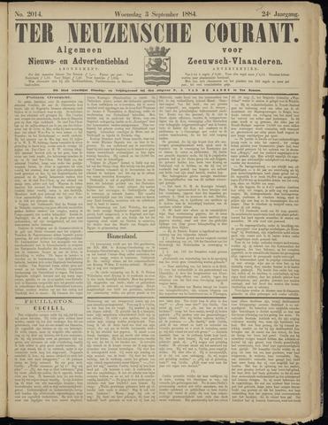Ter Neuzensche Courant. Algemeen Nieuws- en Advertentieblad voor Zeeuwsch-Vlaanderen / Neuzensche Courant ... (idem) / (Algemeen) nieuws en advertentieblad voor Zeeuwsch-Vlaanderen 1884-09-03