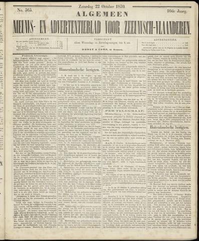 Ter Neuzensche Courant. Algemeen Nieuws- en Advertentieblad voor Zeeuwsch-Vlaanderen / Neuzensche Courant ... (idem) / (Algemeen) nieuws en advertentieblad voor Zeeuwsch-Vlaanderen 1870-10-22