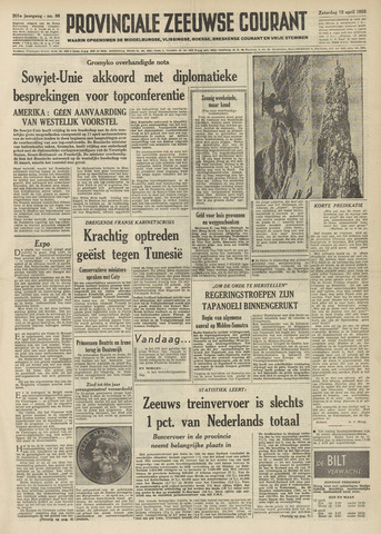 Provinciale Zeeuwse Courant 1958-04-12