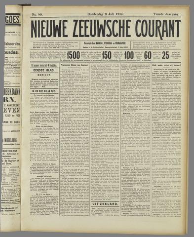 Nieuwe Zeeuwsche Courant 1914-07-09