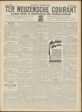 Ter Neuzensche Courant. Algemeen Nieuws- en Advertentieblad voor Zeeuwsch-Vlaanderen / Neuzensche Courant ... (idem) / (Algemeen) nieuws en advertentieblad voor Zeeuwsch-Vlaanderen 1939-10-02