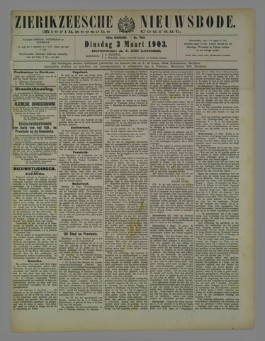 Zierikzeesche Nieuwsbode 1903-03-03