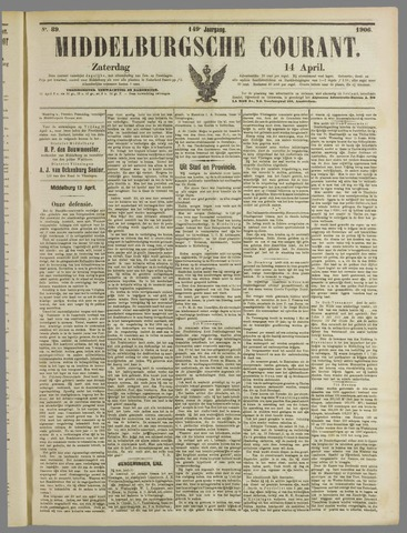 Middelburgsche Courant 1906-04-14