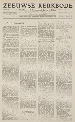 Zeeuwsche kerkbode, weekblad gewijd aan de belangen der gereformeerde kerken/ Zeeuwsch kerkblad 1959-11-06