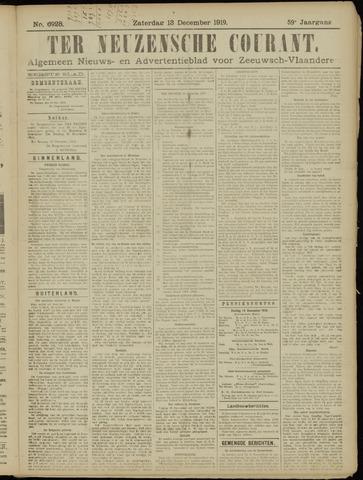 Ter Neuzensche Courant. Algemeen Nieuws- en Advertentieblad voor Zeeuwsch-Vlaanderen / Neuzensche Courant ... (idem) / (Algemeen) nieuws en advertentieblad voor Zeeuwsch-Vlaanderen 1919-12-13
