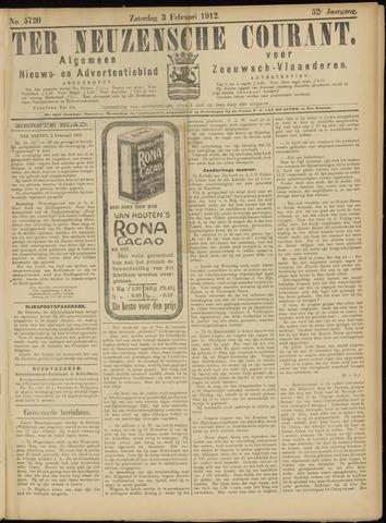 Ter Neuzensche Courant. Algemeen Nieuws- en Advertentieblad voor Zeeuwsch-Vlaanderen / Neuzensche Courant ... (idem) / (Algemeen) nieuws en advertentieblad voor Zeeuwsch-Vlaanderen 1912-02-03