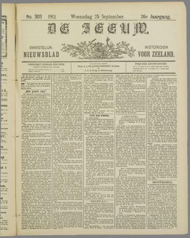 De Zeeuw. Christelijk-historisch nieuwsblad voor Zeeland 1912-09-25
