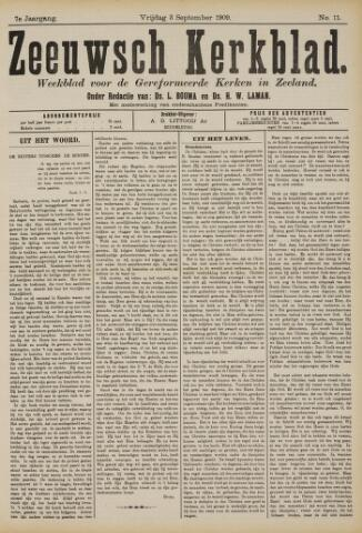 Zeeuwsche kerkbode, weekblad gewijd aan de belangen der gereformeerde kerken/ Zeeuwsch kerkblad 1909-09-03
