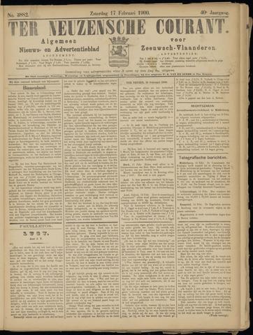 Ter Neuzensche Courant. Algemeen Nieuws- en Advertentieblad voor Zeeuwsch-Vlaanderen / Neuzensche Courant ... (idem) / (Algemeen) nieuws en advertentieblad voor Zeeuwsch-Vlaanderen 1900-02-17