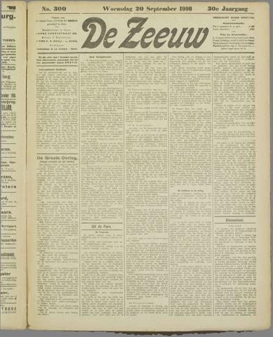De Zeeuw. Christelijk-historisch nieuwsblad voor Zeeland 1916-09-20